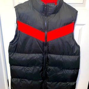Black/Red Puffer Vest